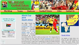 World Cup Football Tickets Website
